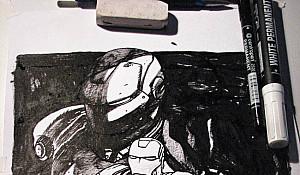 Iron Man in dark version